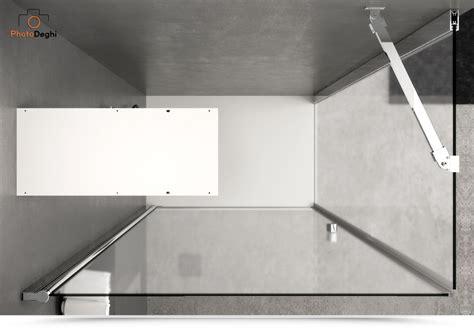 box doccia a parete box doccia 60x100 apertura battente con parete fissa