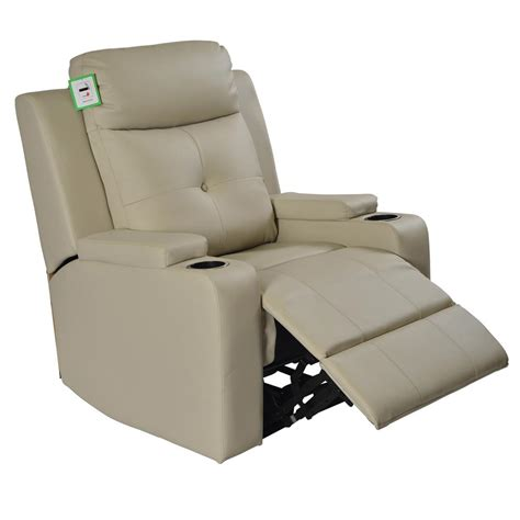 odeon electric powered real leather recliner cinema style