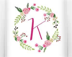 monogram letter monogram letter k etsy