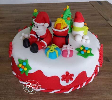 gateau noel pate a sucre g 226 teau de no 235 l en p 226 te 224 sucre avec le p 232 re no 235 l sa hotte de cadeaux et le bonhomme de neige et
