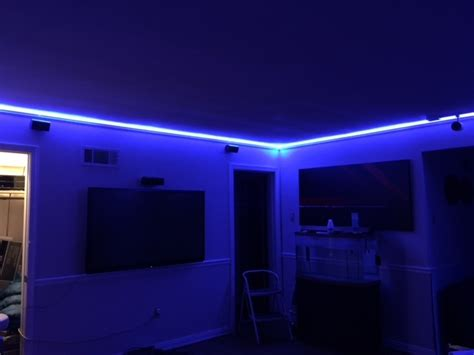 Led Lights Up Room by This Is How To Install 65 Led S Light Strips W Fibaro