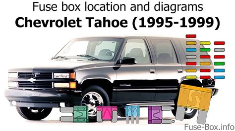 1995 Tahoe Fuse Box Diagram by Fuse Box Location And Diagrams Chevrolet Tahoe 1995 1999