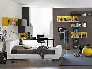 Deco Chambre Ado Garcon : deco chambre ado garcon gris ~ Teatrodelosmanantiales.com Idées de Décoration