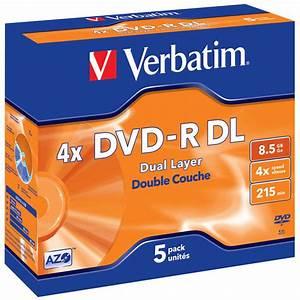 Double Layer Dvd : verbatim 4x 8 5gb dvd r dl dual layer 5 blank discs in ~ Kayakingforconservation.com Haus und Dekorationen