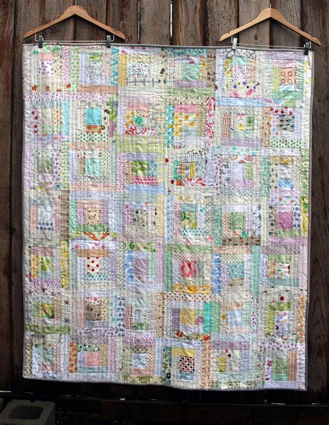 log cabin quilt block pattern low volume log cabin finished wombat quilts