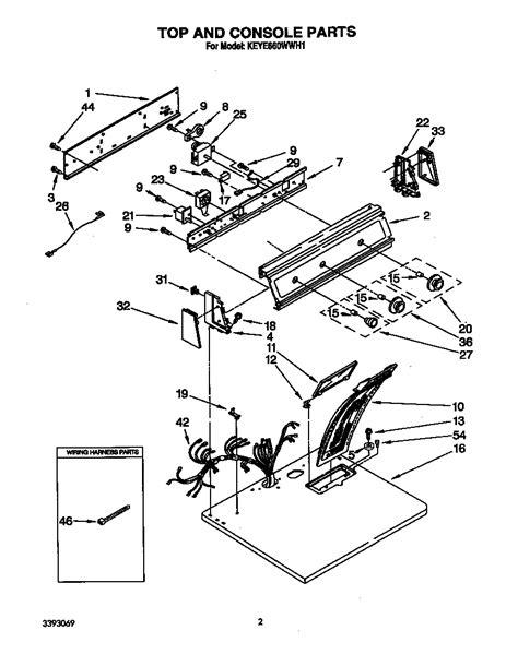 Kitchenaid Parts Dryer kitchenaid residential dryer parts model keye660wwh1