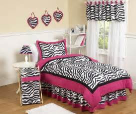 hot pink black white zebra print twin comforter set girls bedding