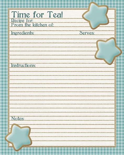 tea  crumpets review   printable recipe sheet