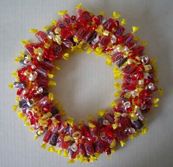 easy ways    candy wreath guide patterns