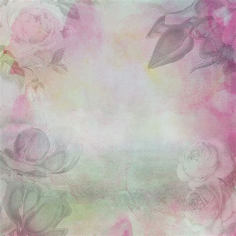floral watercolor paper background  stock photo