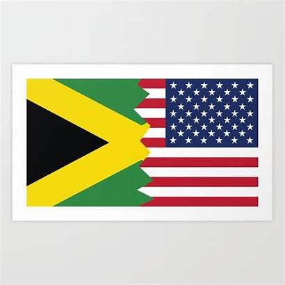 Flag Half Mexican American Jamaican Filipino Society6