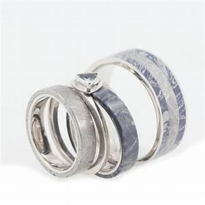 platinum wedding band set with bezel set blue topaz With platinum wedding rings for him