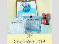 DIY Calendário 2018 Namorada Criativa Por Chaiene Morais