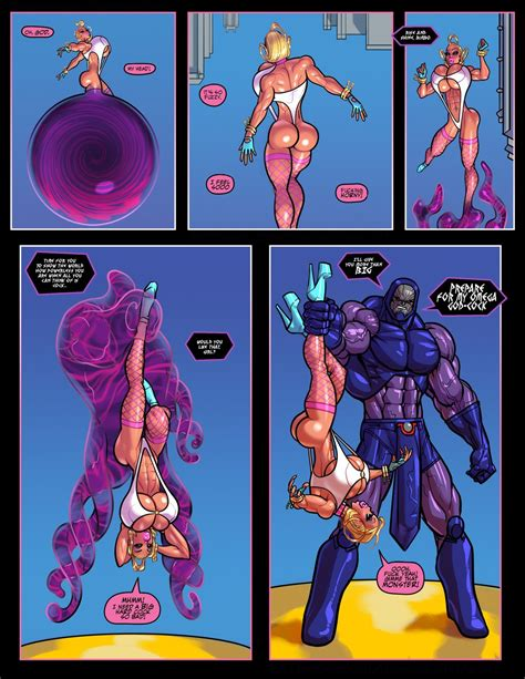 The Pit Power Girl Vs Darkseid Superman • Porn Comics One