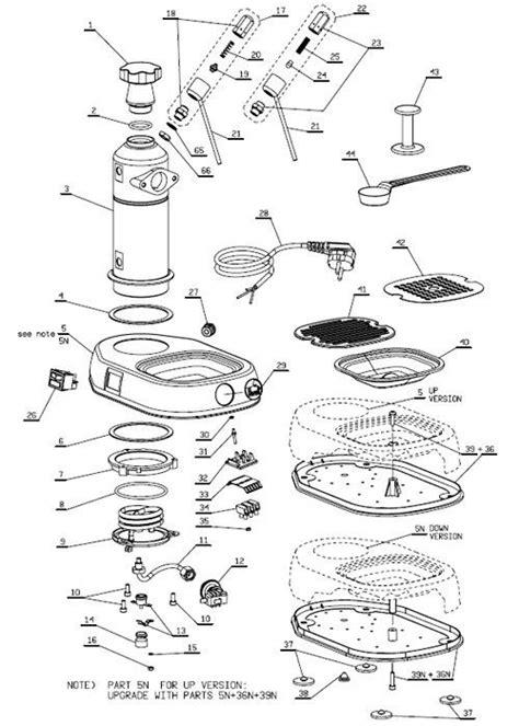 La Pavoni Europiccola Wiring Diagram by La Pavoni Europiccola Professional Parts Diagram Part