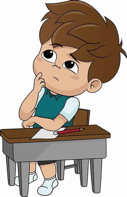 Thinking Clipart Boy Transparent Kid Cartoon Clip