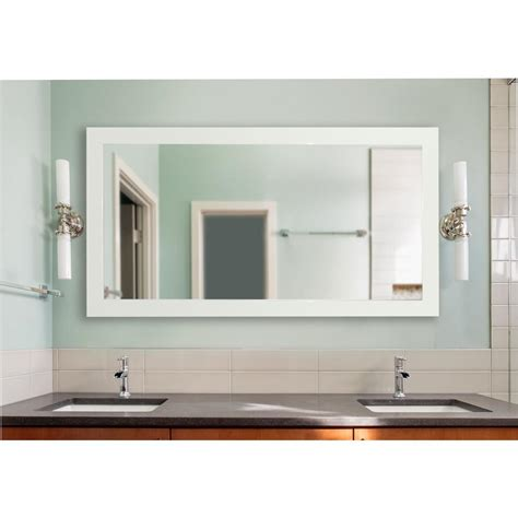 delta white extra large vanity mirror