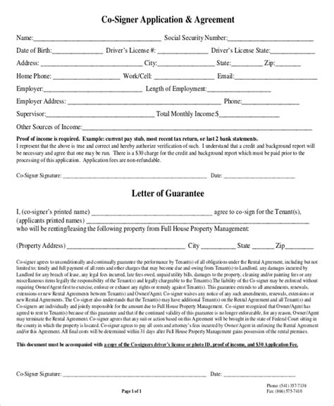 rental agreement letter templates word apple pages