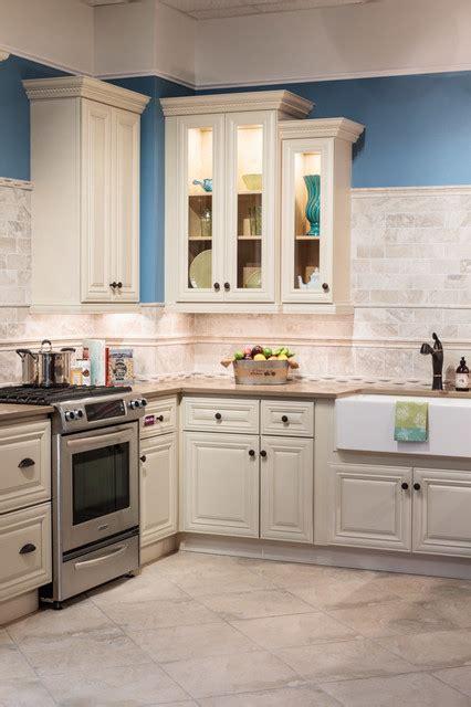 Victoria Ivory Kitchen Cabinets  Traditional  Kitchen