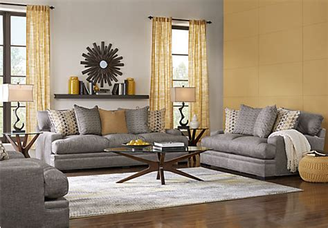 palm springs gray  pc living room sectional