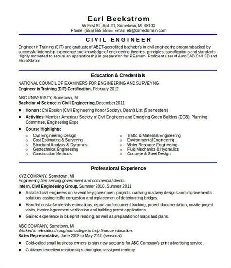 civil engineer resume civil engineer resume engineering
