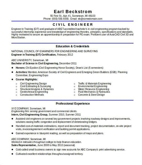 Similar to an elevator pitch, these 2 to 4 sentence long sections communicate why you're the ideal candidate for the job. Sample Resume Civil Engineer Fresh Graduate - Resume Layout