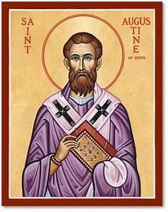 Men Saint Icons: St Augustine of Hippo Icon Monastery Icons