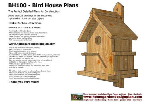 bird house plans sntila home garden plans bh100 bird house plans construction bird house