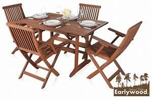 Gartentisch Mit Stühle : earlywood ausziehbarer gartentisch und 4 ilford st hle mit armlehnen aus hartholz 509 99 ~ Frokenaadalensverden.com Haus und Dekorationen