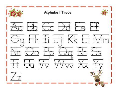 free printable alphabet tracing