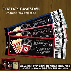 Movie Ticket Layout Movie Night Ticket Invitation Splashbox Printables
