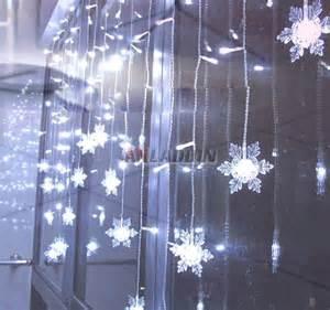 snowflake curtains 104 led holiday lights anladdin com