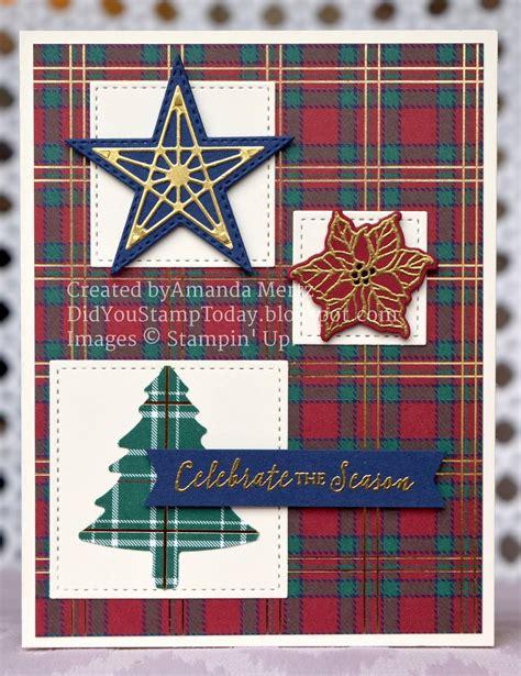 plaid christmas stampin  wrapped  plaid