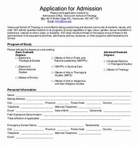 15 application templates free sample example format With college application template
