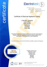 electrical safety certificate electrical inspection