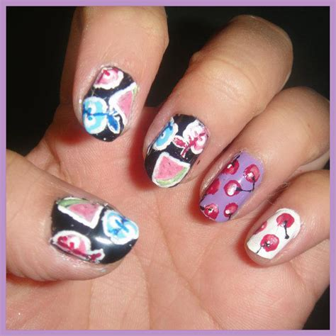 nail art couture moschino cherry nail art