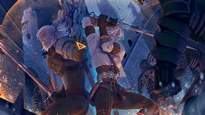 Witcher Ciri Geralt Rivia Hunt Artwork Wild