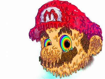 Trippy Cool Mario Rainbow Transparent Sticker Pngio