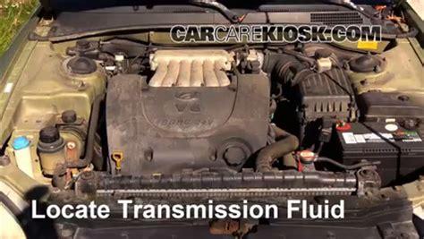 Hyundai Sonata Transmission Fluid by Transmission Fluid Level Check Hyundai Sonata 1995 1998