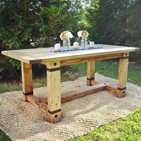 rustic industrial farmhouse table modified shantychic
