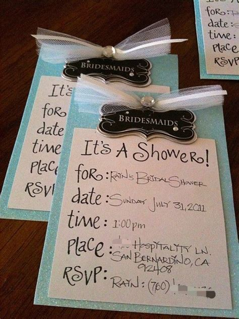 baby shower invitations handmade bridal shower