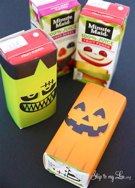 printable halloween juice box covers skip   lou