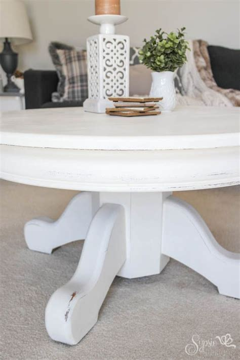 This will assist in keeping your table in a good shape. White Rustic Painted Coffee Table - Sypsie Designs | Painted coffee tables, White rustic coffee ...