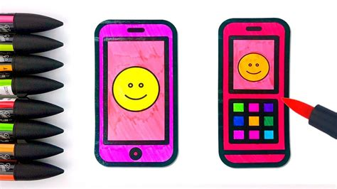 Coloring Mobil by How To Draw Mobile Phone For Coloring For With