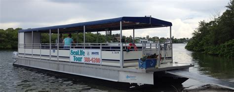 Small Boats For Sale Sarasota by Mote Marine In Sarasota Offers Intercoastal Pontoon Boat Trips