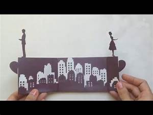 Long Distance Love Story Pop Up Card Tutorial, Valentine's ...