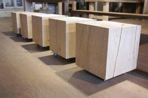 zwaartafelen  massief houten bijzettafel kubus www