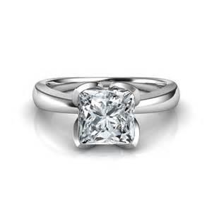 solitaire cut engagement rings petal design princess cut solitaire engagement ring