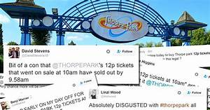Thorpe Park 12p tickets go on sale early and people are ...