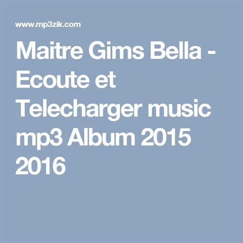 telecharger mp3 bella